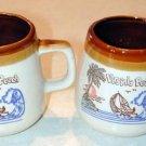 2 Two Decorative Short VIRGINIA BEACH Mug~very unique