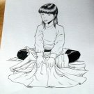 Steve Jackson Games Original RPG ART #23 Asian Girl