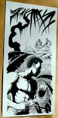 Steve Jackson Games Original ART #7 Ivory Poachers :artist FRED RAWLES