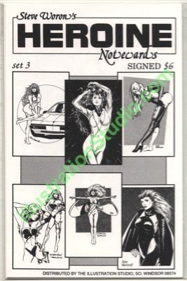 Steve Woron's SIGNED sexy Heroine NoteCard set #3 of 3!