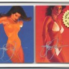 Autographed Steve Woron 2 Swimsuits Cards Screwdown FSh