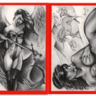 SIGNED! Paresi VAMPIRES & VIXENS RED 4 card PROMO Set~!