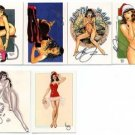 Steve Woron's BETTIE PAGE 5 Card Subset #1 *SIGNED* WOW