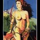TOPLESS WARRIOR~ *SIGNED* Trading Card by Steve Woron~!