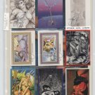 FANTASY-C Subset 9 of 11 Cards SIGNED by Steve Woron
