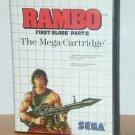 Rambo First Blood - Sega cartridge - For Sega, 1985
