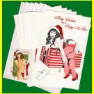 Woron's Bettie Page Christmas Cards set#2 SIGNED Scarce