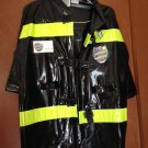FIREMAN Kids Halloween Costume Med. 8-10 worn 1X NICE!