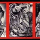 SIGNED! Don Paresi VAMPIRES & VIXENS RED 3 card PROMO Set~!