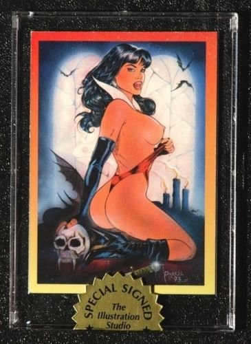 Nude Vampirella- SIGNED Mail In Card-SCARCE! No really! It's very RARE and HTF!