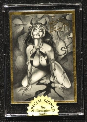 Vampirella- SIGNED Don Paresi GOLD SEALED Chase Card from Fatal Beauty -SCARCE!