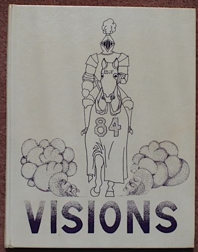 VISIONS 1984 Ellington CT Connecticut High School 1984 Yearbook~Very CLEAN