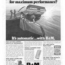 Vintage B&M Automotive Shifters 1973 Advertisement CA, +Bonus Ad FREE!