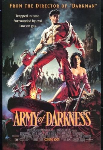 ARMY of DARKNESS Original Trimmed Paper Movie Advertisement 1992 Bruce Campbell