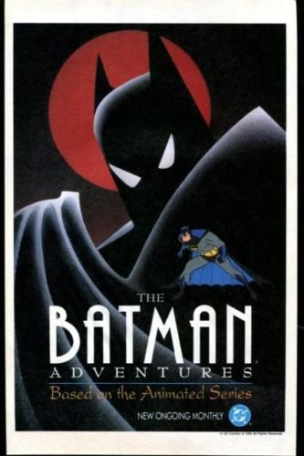 The BATMAN ADVENTURES Original Trimmed Paper Comic Advertisement 1992