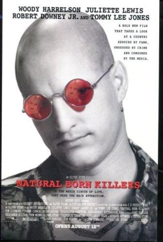 NATURAL BORN KILLERS Original Trimmed Paper Movie Advertisement 1994 Harrelson