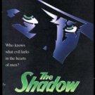 THE SHADOW Original Trimmed Paper Movie Advertisement 1994 Alec Baldwin