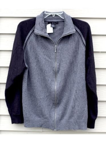 Men's CALVIN KLEIN Jeans large LG Dark Grey and Black Shirt