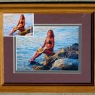 "Framed Steve Woron ""Amys Sunset"" Signed by Amy & Steve!"