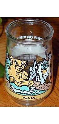 DISNEY LION KING II *RARE* Jelly Jar Illustrated Glass #1~rare