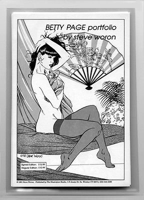 Pinup Girl BETTY PAGE #1 Art Portfolio *SIGNED* HOT Item by Steve Woron