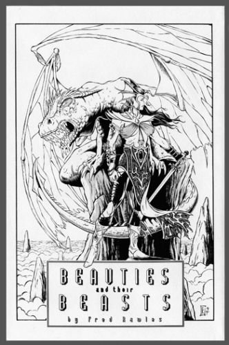 BEAUTIES & Their BEASTS~FANTASY Dragons & Creatures Portfolio SIGNED~Fred Rawles