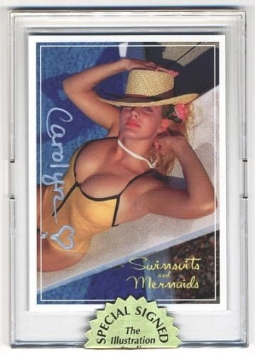 SIGNED Amateur BUSTY Promo card 4 of 5 of Swimsuits and Mermaids Set