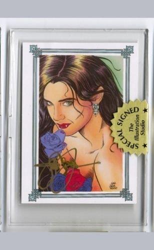 Steve Woron's Vampire Terminal Rose Card Signed in Screwdown Holder