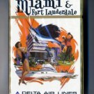 Vintage 1960s Delta Air Lines Playing Cards Pack MIAMI *sealed*