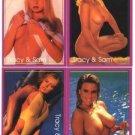 SAMANTHA FOX & TRACI LORDS 4 RARE British Promo Trading Cards 1992