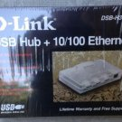 NEW D-Link DSB-H3ETX Combination 10/100 Ethernet Adapter & 3 Port USB Hub