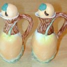 PEACH Motif pair VINEGAR and OIL for Salad Containers with lids-NEVER USED! NICE