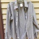 Men's CALVIN KLEIN Medium Dark Grey/Black/Color striped 16 (34/35) Shirt