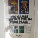 HILLSFAR & POOL of RADIANCE FCI Games Original Trimmed Paper Advertisement 1993