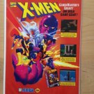 X-MEN GAMESMASTER'S LEGACY For SEGA Original Trimmed Paper Advertisement 1994