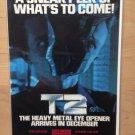 T2 TERMINATOR 2 Genesis SNES Game Gear Original Trimmed Paper Advertisement 1991