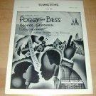 Porgy & Bess SUMMERTIME Gershwin piano sheet music