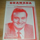 Granada (Frankie Laine); piano sheet music 1932