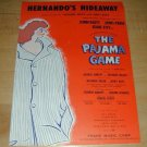 The Pajama Game easy-to-play songbook 1953