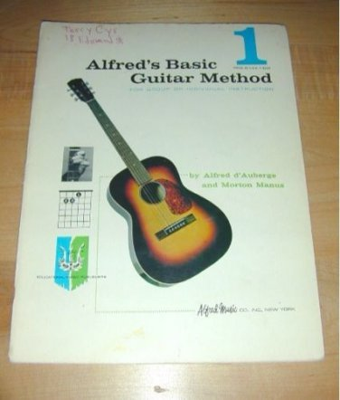 ALFRED's BASIC GUITAR METHOD 1~Group or Individual~1959
