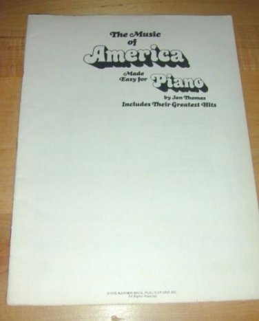 Music of America Made for for Piano~Jan Thomas~1976 WB!