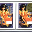 SIGNED Steve Woron NUDE VAMPI 2 cards in screwdown