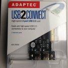 Adaptec USB2Connect USB 2.0 card for MAC & PC AUA-2000A~ USB 2 Ports