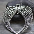 2 pcs Large Angel Wings Charm Connectors Antique Silver Pendants A7852