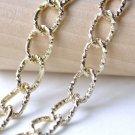 16ft (5m) KC Gold Aluminum Diamond Pattern Oval Chain