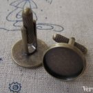 Antique Bronze Cuff Links Cufflinks With 20mm Bezel Set of 10 A3386