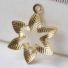 20 pcs Raw Brass Cut Out Leaf Floral Charms Stamping 14mm A8962