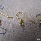 100 pcs Gold Tone Fish Hook Earwire Findings 14x15mm A3310