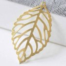 10 pcs Raw Brass Filigree Leaf Charms Stamping Embellishments  A9037