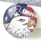 American Eagle Flag Photo Glass Cabochon Cameo 25mm Set of 5 A8197